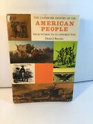 Landmark History Of The American People From Plymouth 2 Appomattox 1968 Boorstin