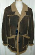 Nwt Menand039s Cole Haan Genuine Shearling Marlboro Man Rancher Style Coat L 1895