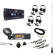 Pci Race Radios Dsp + Bluetooth Ultimate Radio Package 4 Headset/helmet Cables