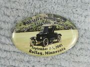 Model T Car 2005 Western Mn Steam Threshers Reunion Rollag Mn Oval Pin Free S/h