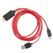 Mhl Micro Usb To Hdmi Cable 1080p Hdtv Lead For Sharp Aquos Phone Sv Sh-10d