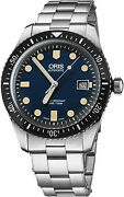 Brand New Oris Divers Sixty-five Blue Menand039s Watch 01 733 7720 4055-07 8 21 18