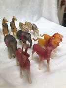 Vintage Celluloid Animals 7 Pairs Lot Of 14 Occupied Japan