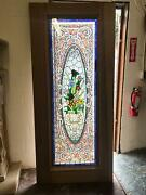 Beautiful Hand Made Cut And Jeweled Stained Glass Estate Door - Jb24