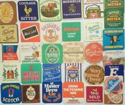Genuine Vintage Beer Ale Drinks Mats Coasters C1970s Courage Greene Hydes Tolly