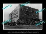 Old Postcard Size Photo Of Auburn Indiana The Imp Cycle Motor Car Factory 1920