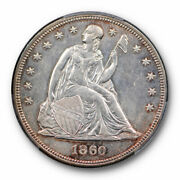 1860 1 Seated Liberty Dollar Pcgs Au About Uncirculated Details Key Date