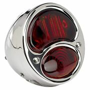 No School Choppers 1928-1932 Ford Duolamp Stop Lens Model A Stainless Tail Light