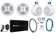2 Rockville Rmsts65w 6.5 Marine Boat Speakers+2 8 Wakeboards+amp+wire Kit