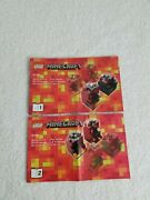 Lego Minecraft Instruction Manual Only 21106 Micro World Nether--books 1 And 2