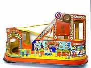Vintage Tin Litho Roller Coaster Made In U.s.a. J. Chein