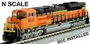 Kato N Scale Sd70ace Bnsf 8527 Diesel Locomotive 176-8524-dcc Installed