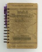 Bible Dictionary Book Teachers Edition Journal Blank Prayer Upcycle Recycle