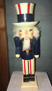 🇱🇷uncle Sam Nutcracker 11andrdquo/ Collectable /holiday