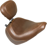Mustang Tripper Brown Motorcycle Solo Seat And Backrest 18-19 Harley Breakout