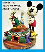 Disney Mickey Mouse And Friends Snowglobe Limited 100 Years Of Magic Fab 5 Musical