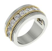 Si1 G 2.00 Ct Natural Diamond Menand039s Anniversary Ring 14k Two-tone Gold 10.00 Mm
