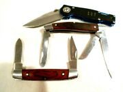 3- Pocket Knife Lot Colt Ct470 And 2-winchester Knives