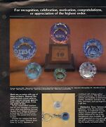 Vintage Ad Sheet 961 - Spheres Of Influence - Advertising Paperweights