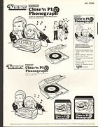 1980 Vintage Toy Ad Sheet 788 - Kenner - Electronic Close N Play Phonograph