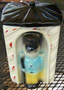 Vintage American Bisque Pottery Toy Soldier Sentry Cookie Jar Usa743