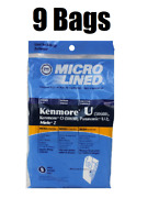 9 Bags For Kenmore Upright Vacuum 5068 50688 50690 Type U O Microlined