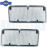 1968 1969 68 69 Chevelle Malibu El Camino Ss Hood Grille Louvers / Inserts New