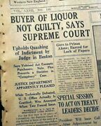 United States Prohibition Beer Liquor 18th Amendment Void Buyer 1930 Newspaper