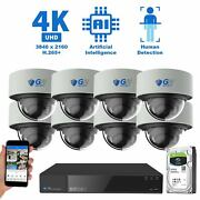 16 Channel Nvr 8 4k Poe Ip Color Night Vision Microphone Security Camera System