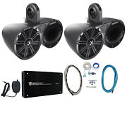 Pair Of Kicker 6.5 Wakeboard Component Speakers+4 Channel Amplifier+amp Kit