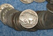 1938-d Buffalo Nickel Roll Of 40 Coins Full Dates Nice Last Year Of Issue E0733