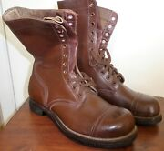 M 1951 Us Army Issue Nos Rusty Brown Red Field Boots