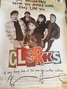 Actor Director Kevin Smith Signed 1994 'clerks' Movie Poster 40x27