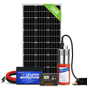 12v100w Solar Panel Deep Water Well Pump S/steel Submersible Pump 20a Controller