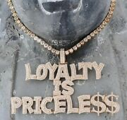 Menand039s Custom Name Loyalty Is Priceless With Tennis Chain In 14k Rose Gold Plated