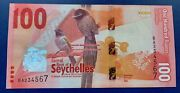 Seychelles 100 Rupees 2016 Year P-50 Unc Ascending Ladder Serial Number 234567