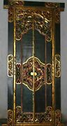Balinese Temple Door Handmade Carved Wood Bali Architectural Art Home Decor