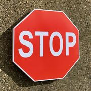 U.s. Stop Road Sign Led Illuminated Wall Light Box Garage Interstate Route 66