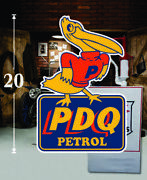 20 Pair Of Pdq Petrol Pelican Gas Vinyl Decal Lubester Oil Pump Can Lubster