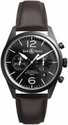 Brand New Authentic Bell And Ross Vintage Original Menand039s Watch Brv126-bl-ca/sca