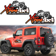 4x4 Off Road Accessories Hood Body Cars Truck Off-road Vinyl Decal For Jeep Ford