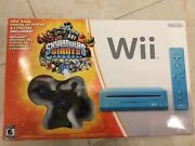 New Nintendo Wii Limited Edition Blue Console System, Skylanders Giants
