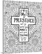 Diy Coloring Book Canvas Art Entitled My Presence With Go With You