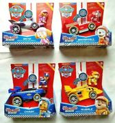 Complete Set Of 4 - Paw Patrol Ready Race Rescue Skye Marshall Chase Rubble