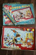 Vintage Magic Rodeo Roll Tin Litho Target Game Board Cowboy Western Toy Wall Art