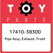 17410-38300 Toyota Pipe Assy Exhaust Front 1741038300 New Genuine Oem Part