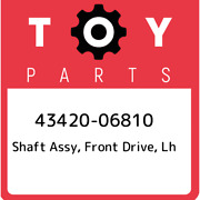 43420-06810 Toyota Shaft Assy Front Drive Lh 4342006810 New Genuine Oem Part