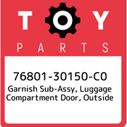 76801-30150-c0 Toyota Garnish Sub-assy Luggage Compartment Door Outside 768013