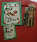 Lot Of 3 Antique Reproduction Childrens Books Kate Greenway Games Last Mohicans