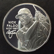 1997 Nick Faldo World Golf H.o.f. Collection Silver Proof Medal Lot A5446